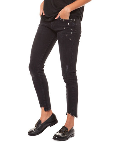 Dex Slim-Fit Cropped Jeans-BLACK-28