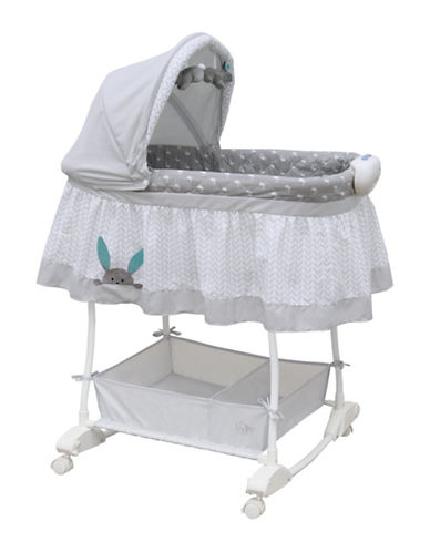 Bily Peek-A-Boo Bunny Rocking Bassinet-GREY-One Size