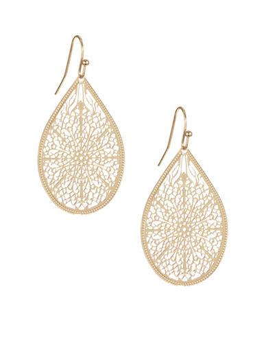 Expression Filigree Teardrop Earrings-GOLD-One Size