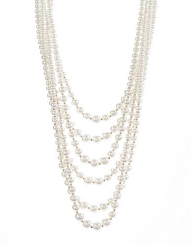 Expression Six-Row Candy Bead Necklace-BEIGE-One Size