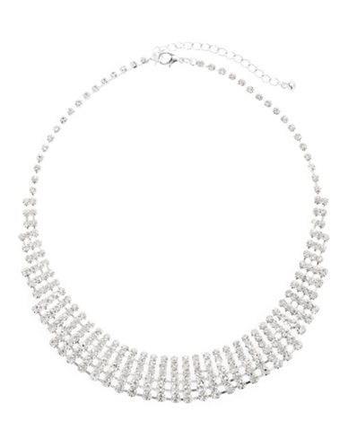 Expression Lattice Collar Necklace-SILVER-One Size