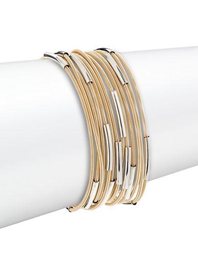 Expression Tube Stretch Spring Bracelet Set-SILVER-One Size