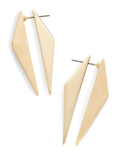 Expression Pyramid Front-to-Back Earrings-GOLD-One Size