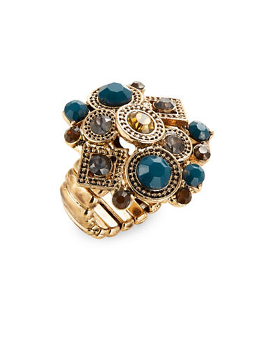 Expression Stone and Filigree Cluster Stretch Ring-GOLD-One Size