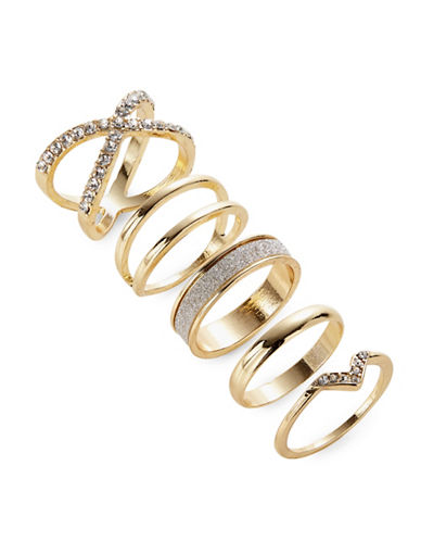 Expression Five Stackable Ring Set-GOLD-9