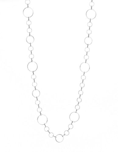 Expression Multi-Ring Rope Necklace-SILVER-One Size