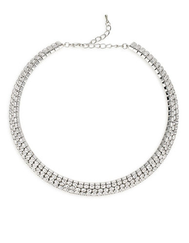 Expression Pave Stone Choker-SILVER-One Size