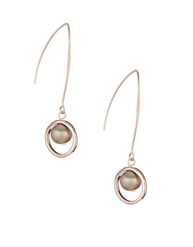 Expression Bead in Ring Drop Earrings-SILVER-One Size