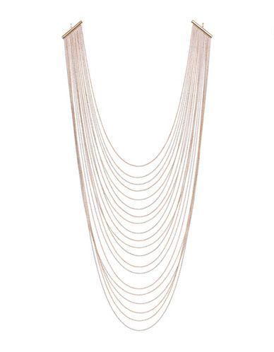 Expression Multi Layered Chain Necklace-GOLD-One Size