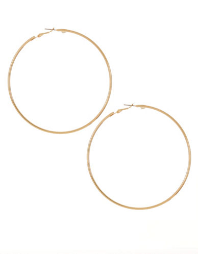 Expression Large Hoop Earrings-GOLD-One Size