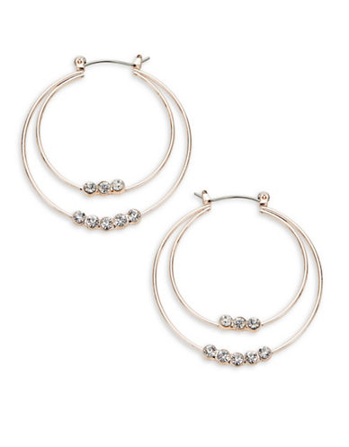 Expression Pave Hoop Earrings-ROSE GOLD-One Size