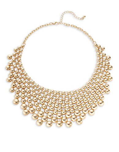 Expression Graduated Dome Bib Necklace-GOLD-One Size