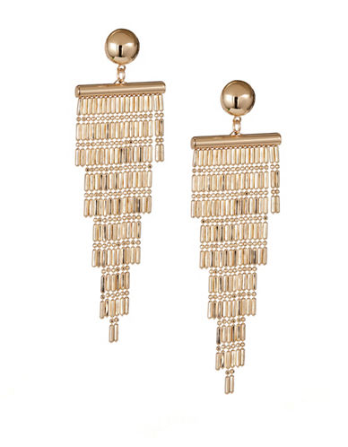 Expression Beaded Chain Drop Earrings-GOLD-One Size