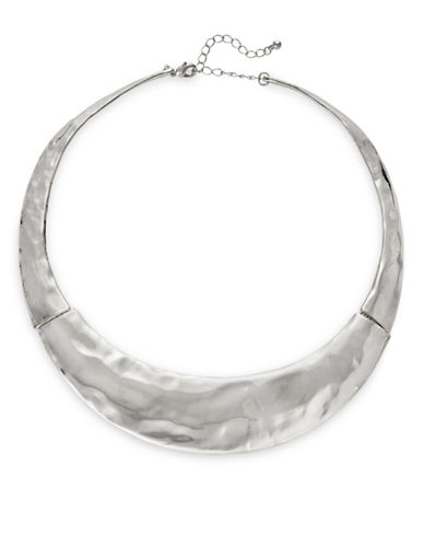Expression Textured Collar Necklace-SILVER-One Size