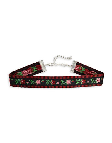 Expression Floral Embroidered Choker Necklace-MULTI-One Size