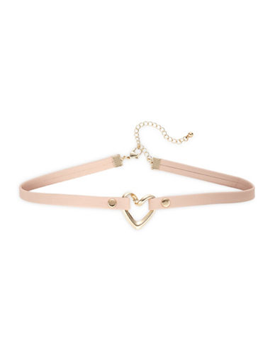 Expression Heart-On Choker-PINK-One Size
