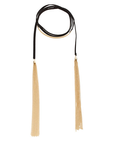 Expression Flat Plate Choker Necklace-BLACK-One Size