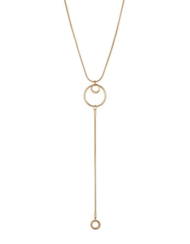 Expression Hoop Y Necklace-GOLD-One Size