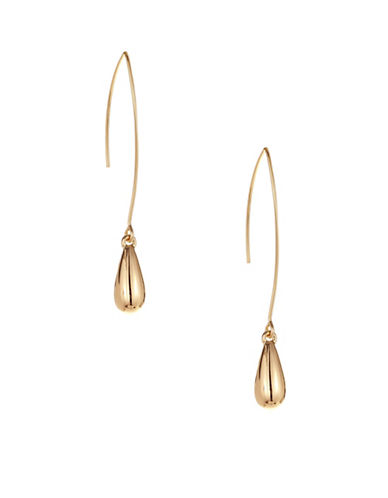 Expression Pull Through Teardrop Earrings-GOLD-One Size