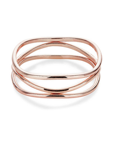 Expression Three-Pack Bangles-ROSE GOLD-One Size