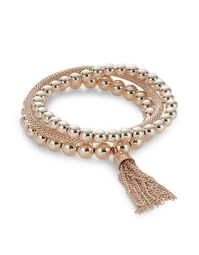 Expression Rose-Goldtone Stretch Bracelet Set-ROSE GOLD-One Size