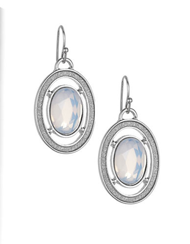 Expression Oval Drop Earrings-SILVER-One Size