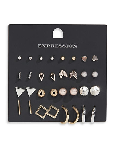 Expression 16-Pair Assorted Geometric Earrings Set-ASSORTED-One Size