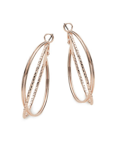 Expression Triple Hoop Earrings-GOLD-One Size