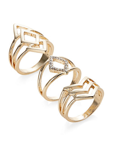 Expression Set of Three Geo Rings-GOLD-7