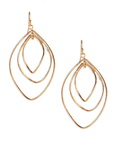 Expression Triple Wavy Hoop Earrings-GOLD-One Size