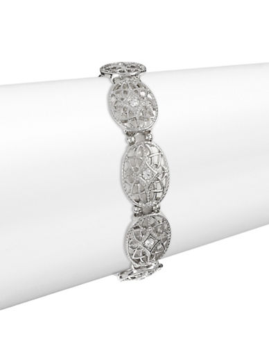 Expression Rhinestone Filigree Stretch Bracelet-SILVER-One Size