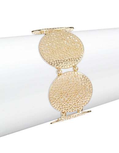 Expression Filigree Disc Stretch Bracelet-GOLD-One Size