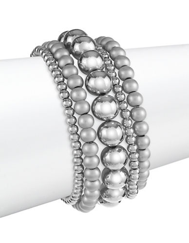 Expression Five-Piece Beaded Bracelet Set-SILVER-One Size