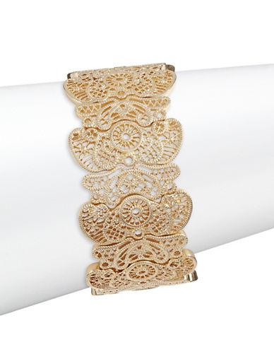 Expression Filigree Stretch Bracelet-GOLD-One Size