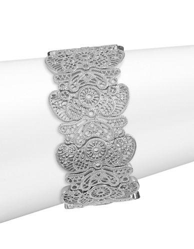 Expression Filigree Stretch Bracelet-SILVER-One Size