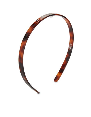 Expression Skinny Tortoise-Look Alice Band-BROWN-One Size