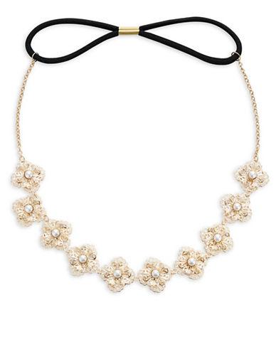 Expression Filigree Flowers Headband-GOLD-One Size