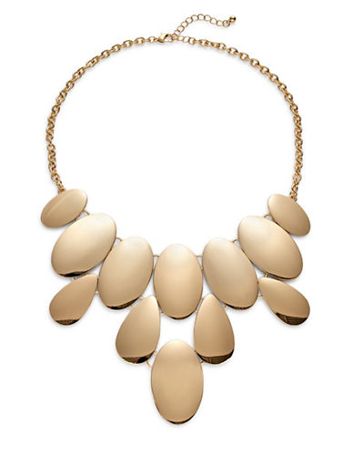 Expression Oval Bib Necklace-GOLD-One Size