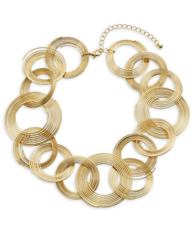 Expression Linked Circle Necklace-GOLD-One Size