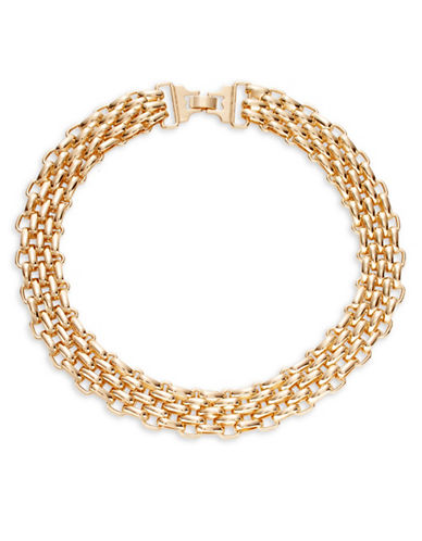 Expression Link Intertwined Collar Necklace-GOLD-One Size