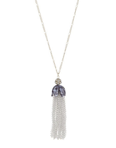 Expression Tassel Pendant Necklace-SILVER-One Size