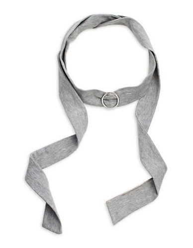 Expression O Ring Fabric Choker-GREY-One Size