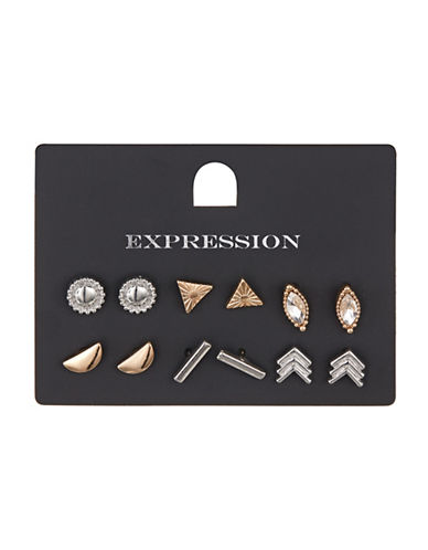 Expression Six Pack Geometric Stud Sets-ASSORTED-One Size