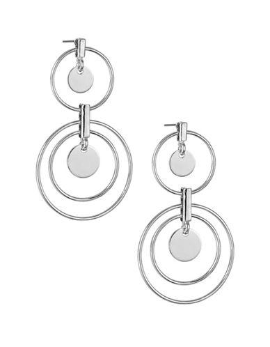 Expression Orbital Hoop Earrings-SILVER-One Size