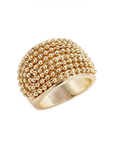 Expression Dotted Plain Band Ring-GOLD-7