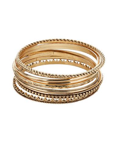 Expression Eight-Piece Bangle Bracelet Set-GOLD-One Size