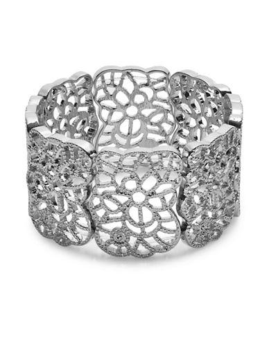 Expression Floral Filigree Bracelet-SILVER-One Size