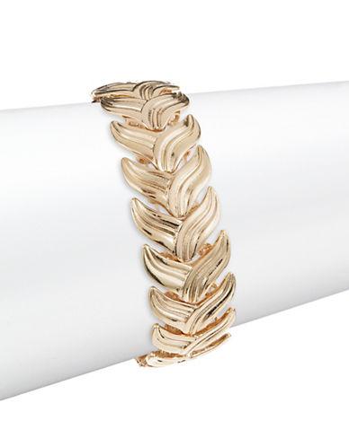 Expression Leaf Stretch Bracelet-GOLD-One Size