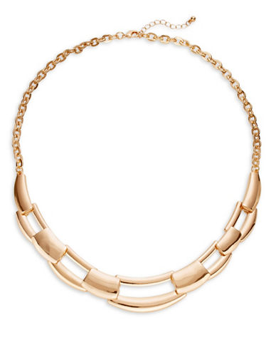 Expression Interlock Open Necklace-GOLD-One Size