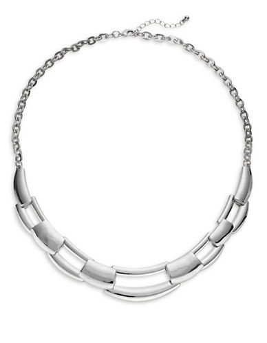 Expression Interlock Open Necklace-SILVER-One Size
